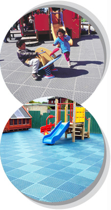 Solid style playground surfaces from Matta Products